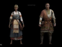 Life is Feudal - unrealized costume design