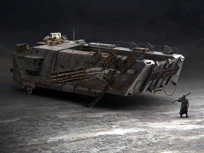 Agony of War Concept Dropship