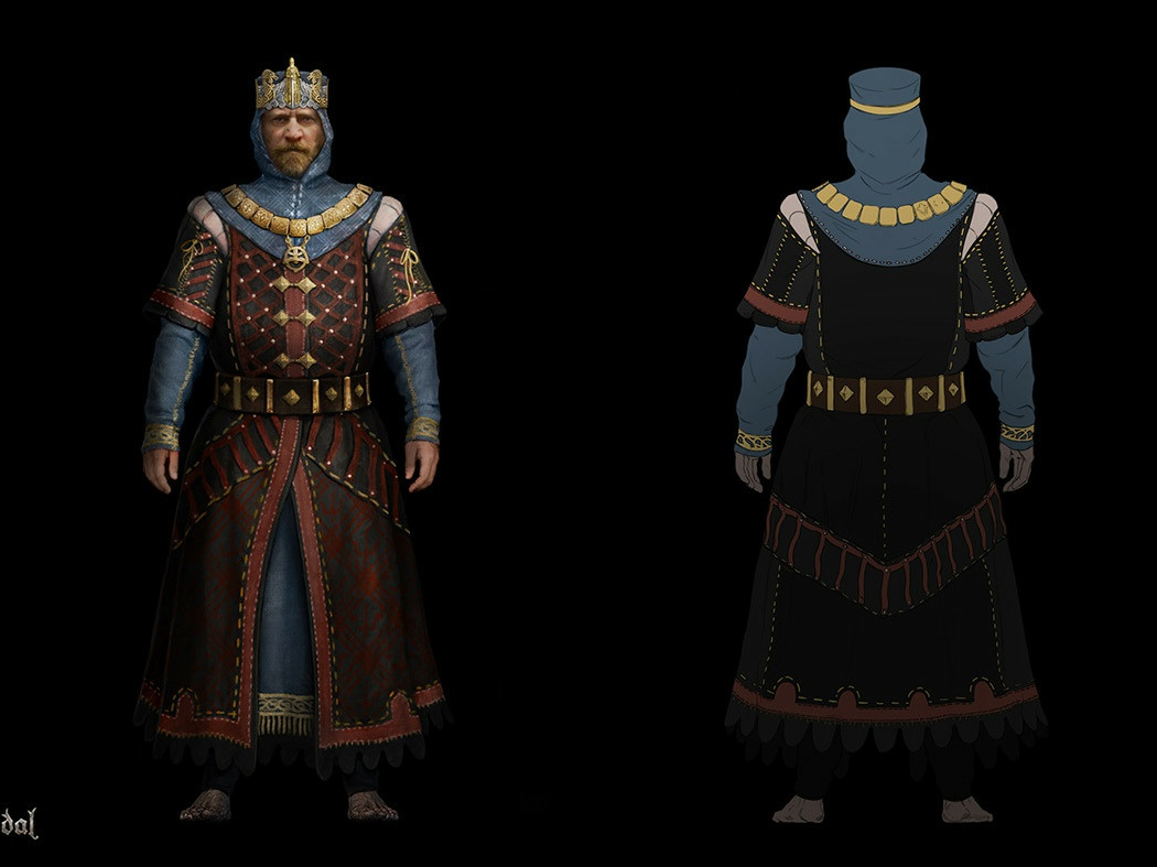 Timur Kvasov Kings 1 king outfit medieval game art fantasy costume design costume concept art character design character art character
