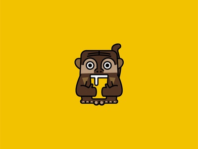 Monkey Island | Beer garden & Tiki Bar illustration ape glass drink bar tiki beer monkey logo