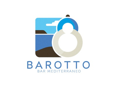 Barotto, mediterranean bar mediterranean greek santorini branding brand logo bar