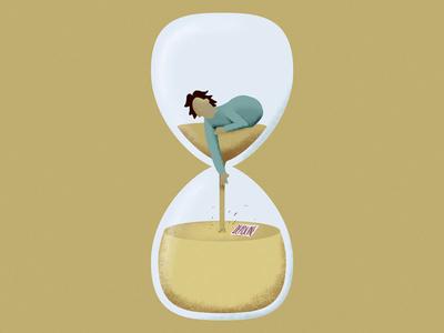 deadline photoshop adobe color hourglass man character graphic design illustration deadline