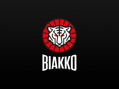 Biakko sport tiger brand branding logo