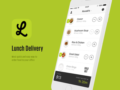 Lunch Delivery iosdesign
