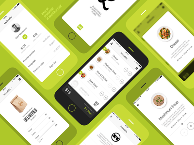Lunch Delivery Grid iosdesign