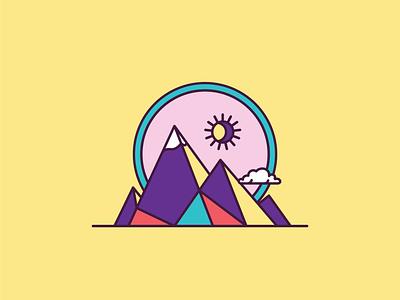 Bohemian Dates - Mountain Icon package design vector icon illustration freelance design monoline design branding