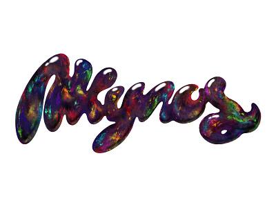 Akyros Black Opal Logotype shot dribbble drawing procreatelettering liquids opal blackopal logotype handlettering handlettered procreate akyros hand drawn typography logo freelance design vector illustration branding design