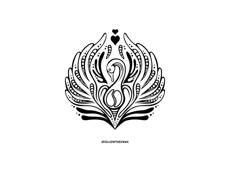 Follow The Swan Illustration