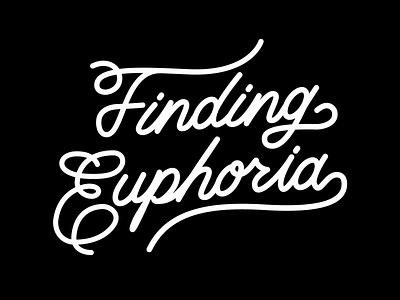 Logotype for Finding Euphoria. logo icon typography vector freelance design branding design