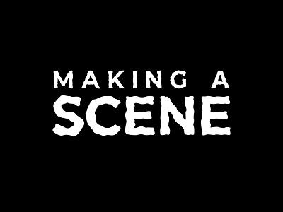 Logotype for Making A Scene Podcast. typography icon logo freelance design vector design branding