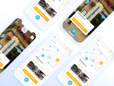 Map mobile app design clean ux ui maps street view map