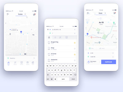BiciApp - concept mobile ux app ui bicycles bicycle app bicycle maps