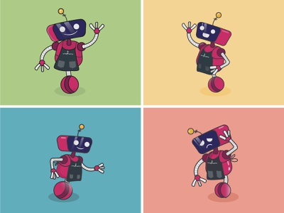 Vinnie 2 - Character Design character design character robots robot illustration