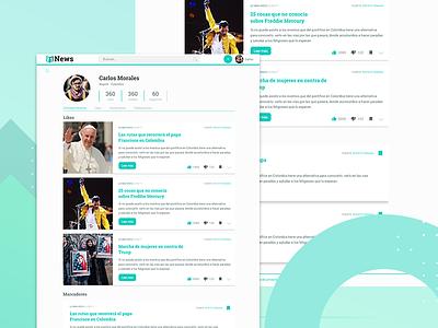 Vs News Profile responsive ux ui clean flat profile