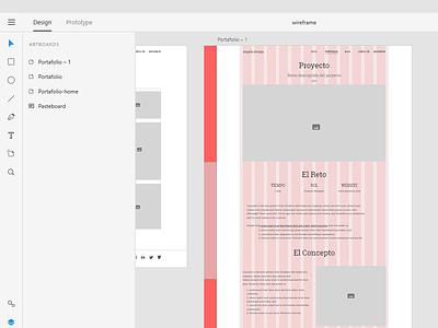 Wireframe portfolio Adobe XD grid wireframe adobe xd portfolio