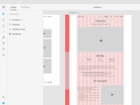 Wireframe portfolio Adobe XD