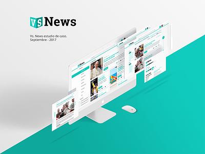 1 Vs News Dribble website ux ui adobe xd news reader news