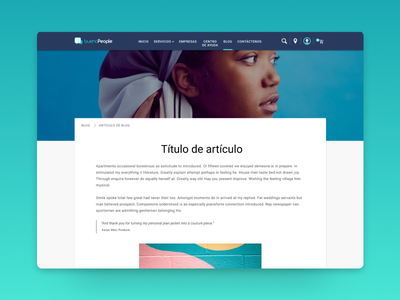 buenaPeople - Post page post website desktop blog material design