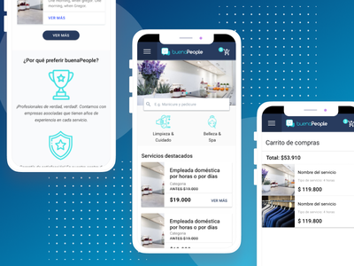 buenaPeople - Home Mobile figma store website mobile material design