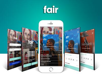 Fair - Music App ux ui mobile music app music
