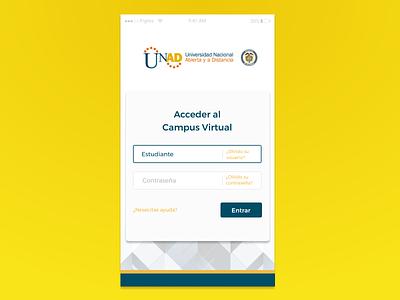 Unad -Sign Up Ui Challenge mobile login university ux design form sign up ui challange ui