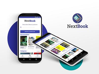 NextBook book book app material design mobile ux ui adobe xd