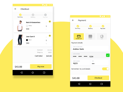 Credit Card Checkouk checkout dailyui clean app mobile ui ux