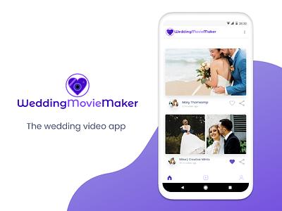 Wedding movie maker app wedding wedding app design clean app mobile ux ui