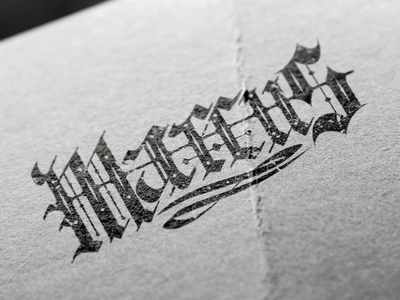 Marcus Lettering