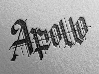 Apollo Lettering