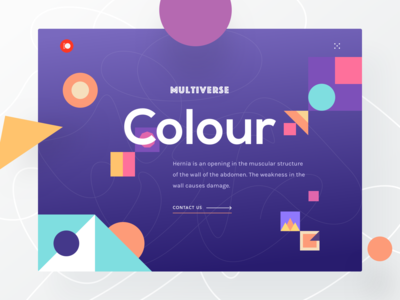 Colour Exploration Header UI Freebie