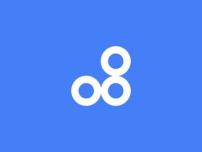 Origin8 Loader mark eight yellow blue simple loader animation loader vector logoanimation circle shapes logo branding design animation motion design motion