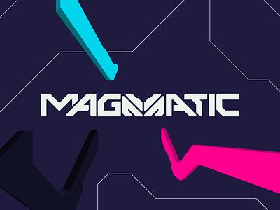 Magmatic Logo shifting shapes identity brand design brand identity m logo product branding tech mech illustration pattern logoanimation logo branding design animation motion design motion