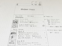 Group Pages Wireframe