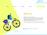 courier service page