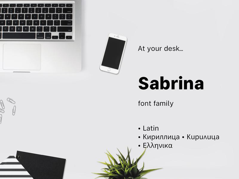 Sabrina branding typography latin greece cyrillic font