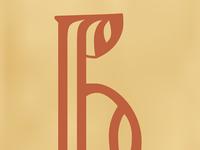 Cyrillic letter VE (Dobreyshovo Gospels, 13th century)