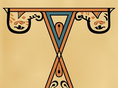 Glagolitic I (Codex Zographensis) vector design typography font glagolitic