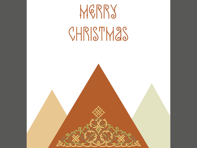 Christmas Cards Set of 5 illustration design vector cyrillic typography