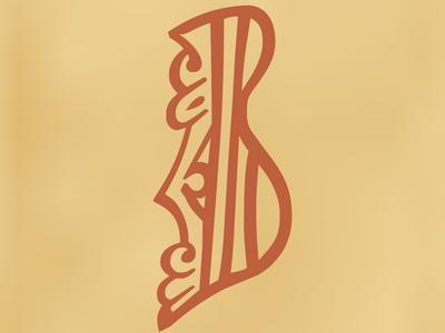 Cyrillic letter VE (Dobreyshovo Gospels, 13th century) illustration vector design font cyrillic typography