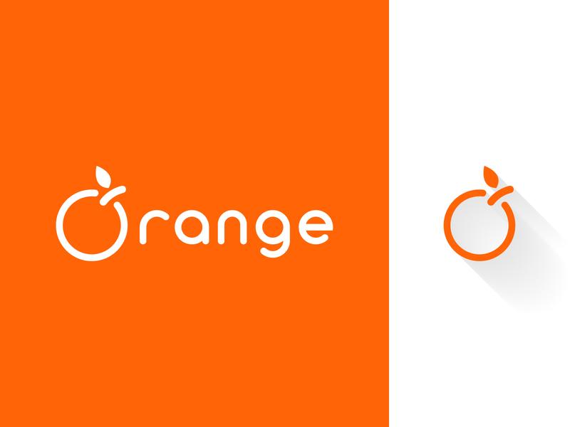 Orange simple orange branding vector logo dribbble adobe illustrator photoshop
