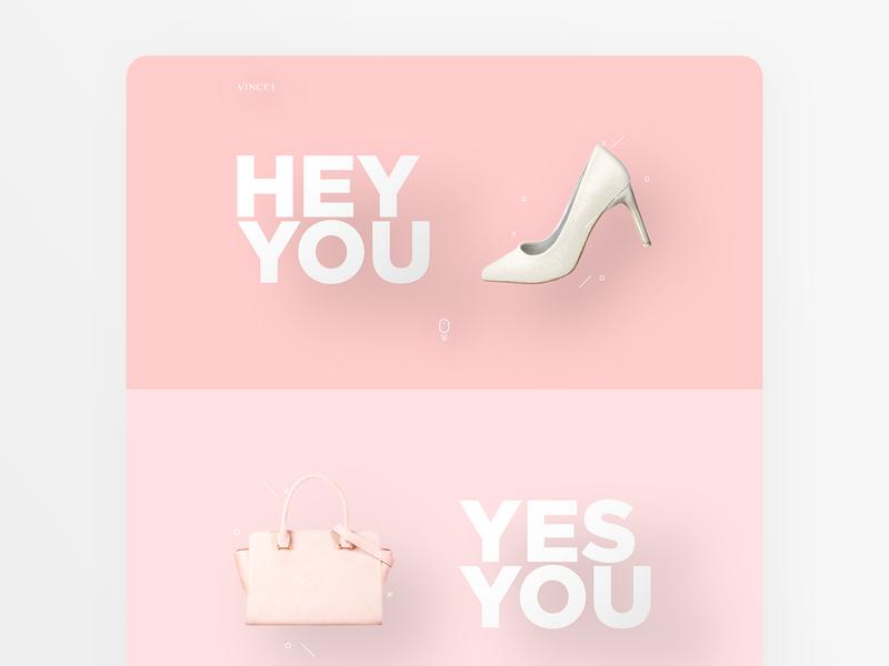 Bag & Shoe Landing page design floating design vincci adobe photoshop adobe illustrator website landing page sandal shoe bag