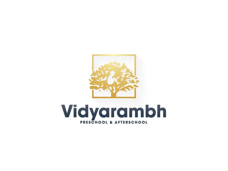Vidyarambh School Logo design logo adobe photoshop adobe illustrator study tree school logo school preschool