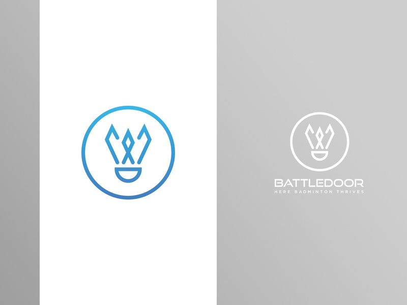 Battledoor Badminton Logo 2 indoor court badminton branding design logo adobe photoshop adobe illustrator
