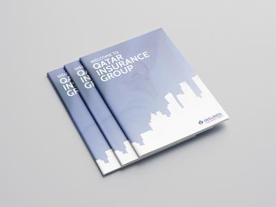 Qatar Insurance Group Brochure brochure design adobe photoshop adobe illustrator insurance qatar