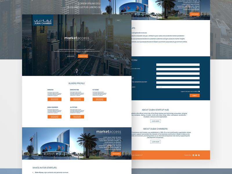Dubai Chamber Landing page Design adobe photoshop adobe illustrator webdesign website landingpage chamber dubai