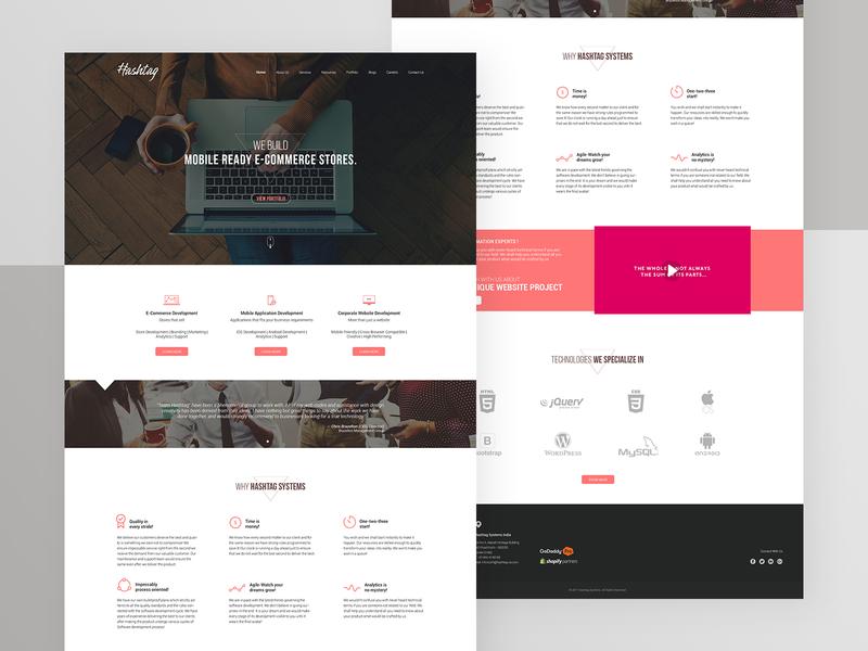 Hashtag Kochi Company Website Design landingpage adobe photoshop adobe illustrator website webdesign hashtag