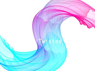 Twisted circle s wave graphic twisted random design illustration inspiration