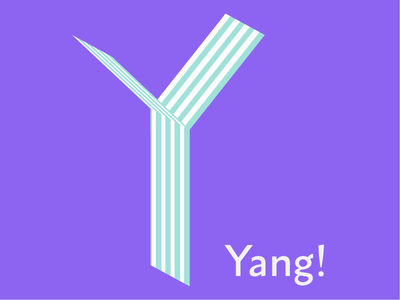 Y letter design graphic vector logo illustration yang letter y