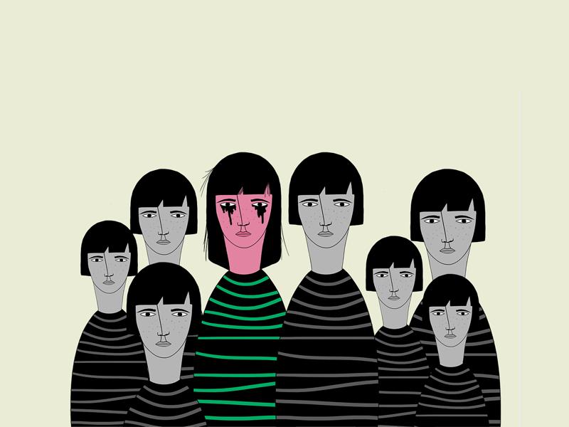 Family portrait illustration portrait